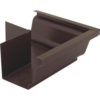 NorWesco 4 In. Galvanized Brown Gutter Outside Corner