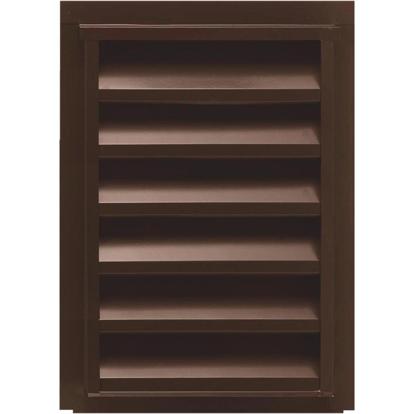 "NorWesco 12"" x 18"" Rectangular Brown Gable Attic Vent Image 1"