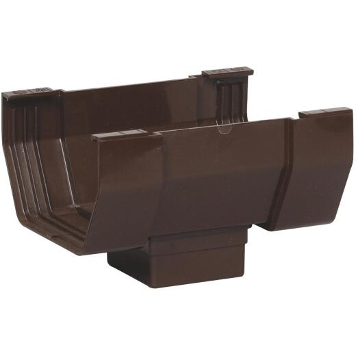 Amerimax 5 In. Center Drop Outlet for Brown Vinyl Contemporary Gutter