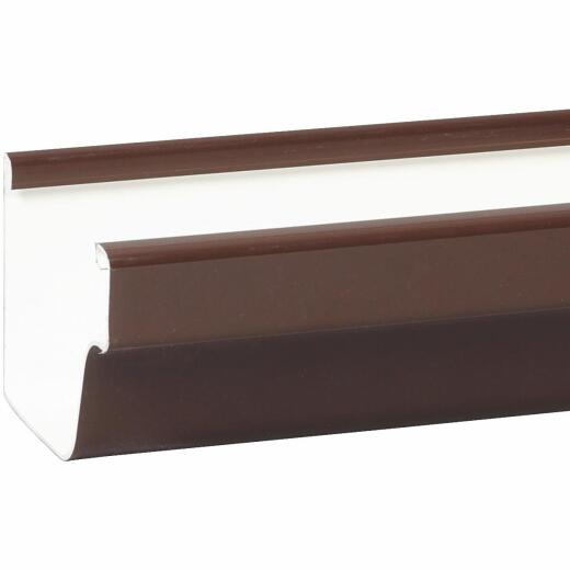 Amerimax 5 In. Traditional K-Style Brown Vinyl Gutter 10 Ft.