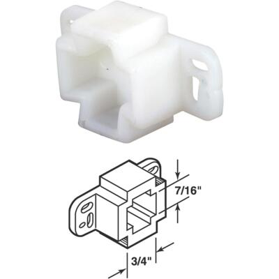 Prime-Line Nylon White Track Socket (2 Count)
