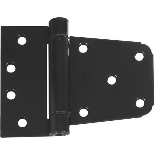 National 3-1/2 In. Black Heavy-Duty Spring Gate Hinge