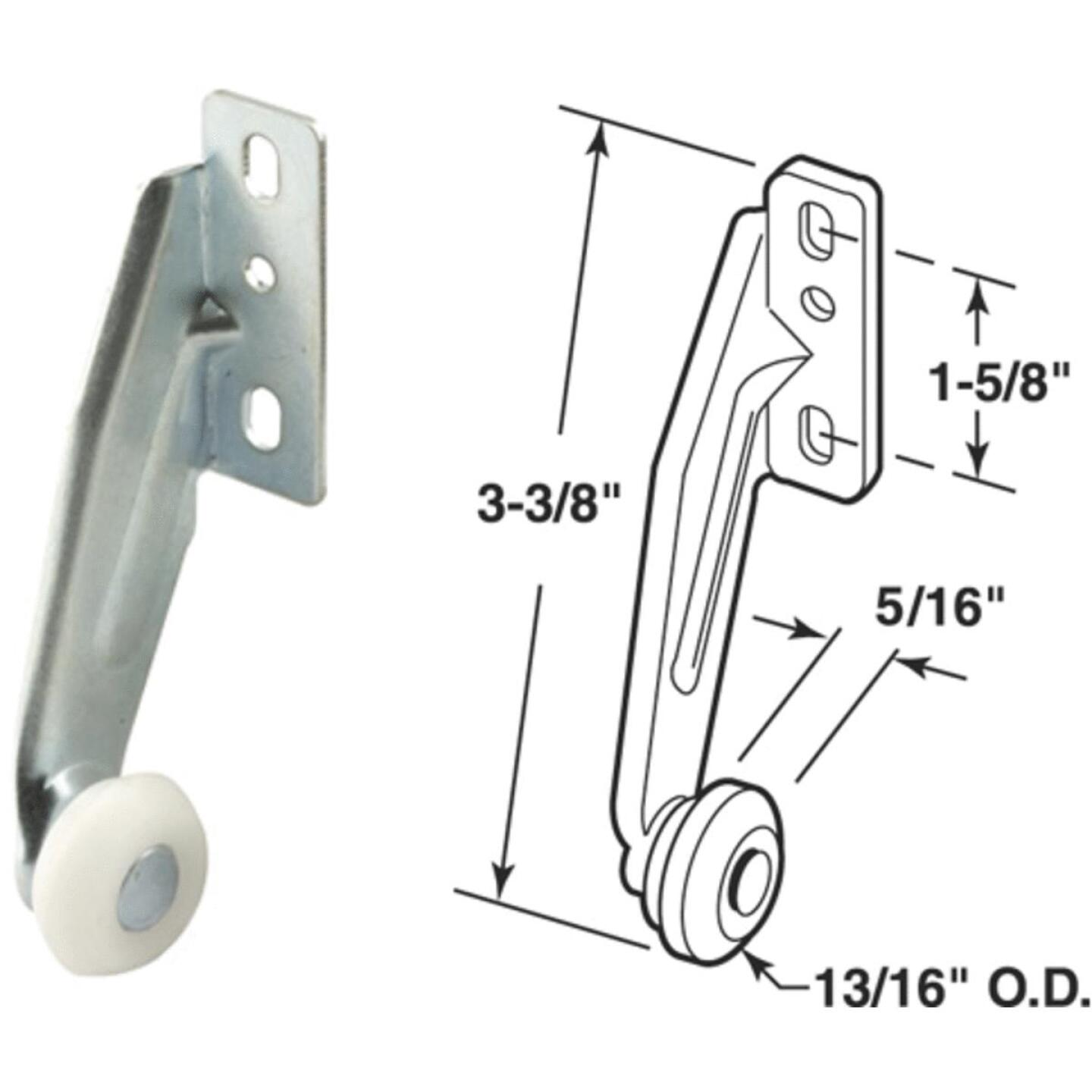 "Prime-Line Steel White Nylon 3-21/64"" Right Hand Rear Drawer Roller (2 Count) Image 1"