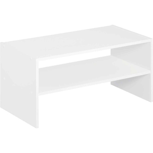 Storage Stacker White 24 In. Horizontal Organizer