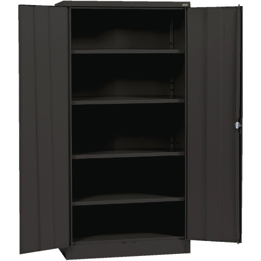 Edsal 4-Shelf Black Storage Cabinet
