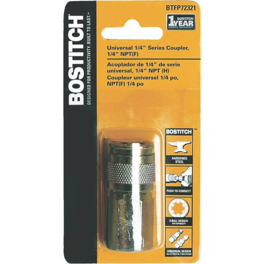 Bostitch Universal 6-Ball Design Push-to-Connect 1/4 In. NPTF Coupler