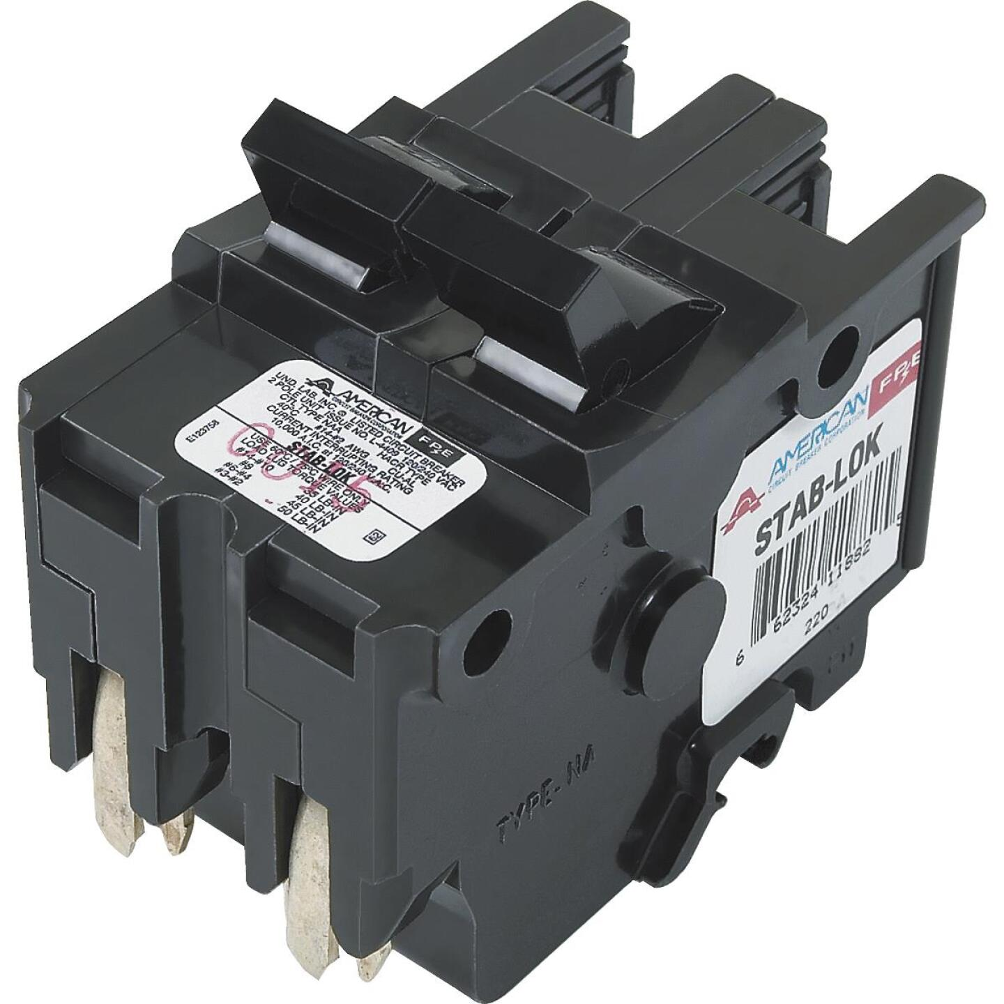 Connecticut Electric 20A Double-Pole Standard Trip Packaged Replacement Circuit Breaker For Federal Pacific Image 1