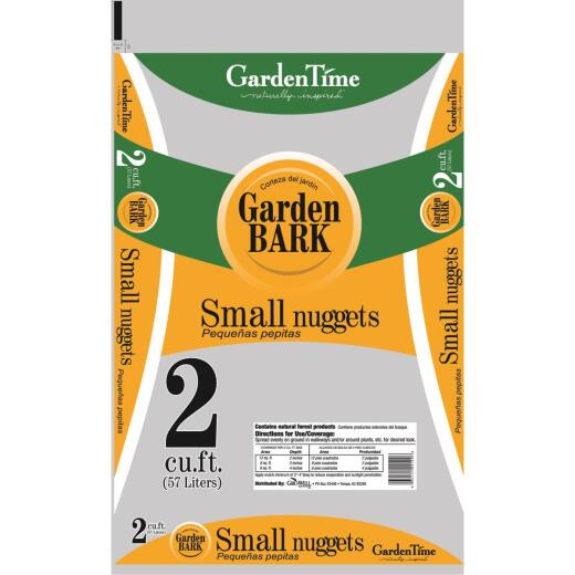 Garden Time 2 Cu. Ft. Small Pine Decorative Bark Mulch Nuggets