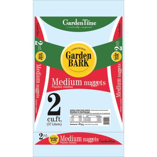Garden Time 2 Cu. Ft. Medium Pine Decorative Bark Mulch Nuggets