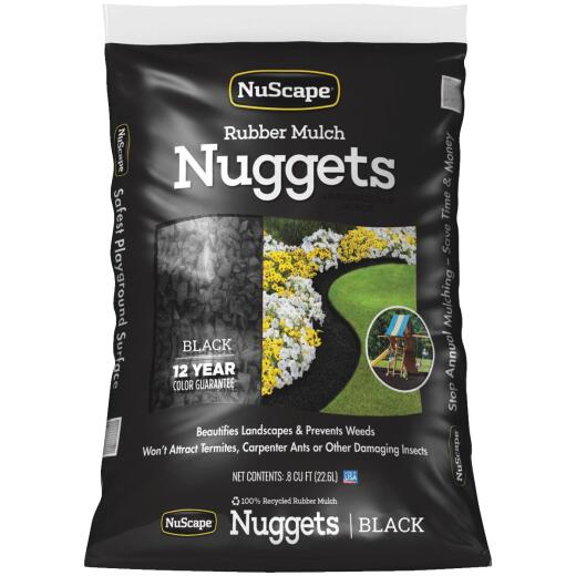 NuScape Black 0.8 Cu. Ft. Rubber Mulch Nuggets