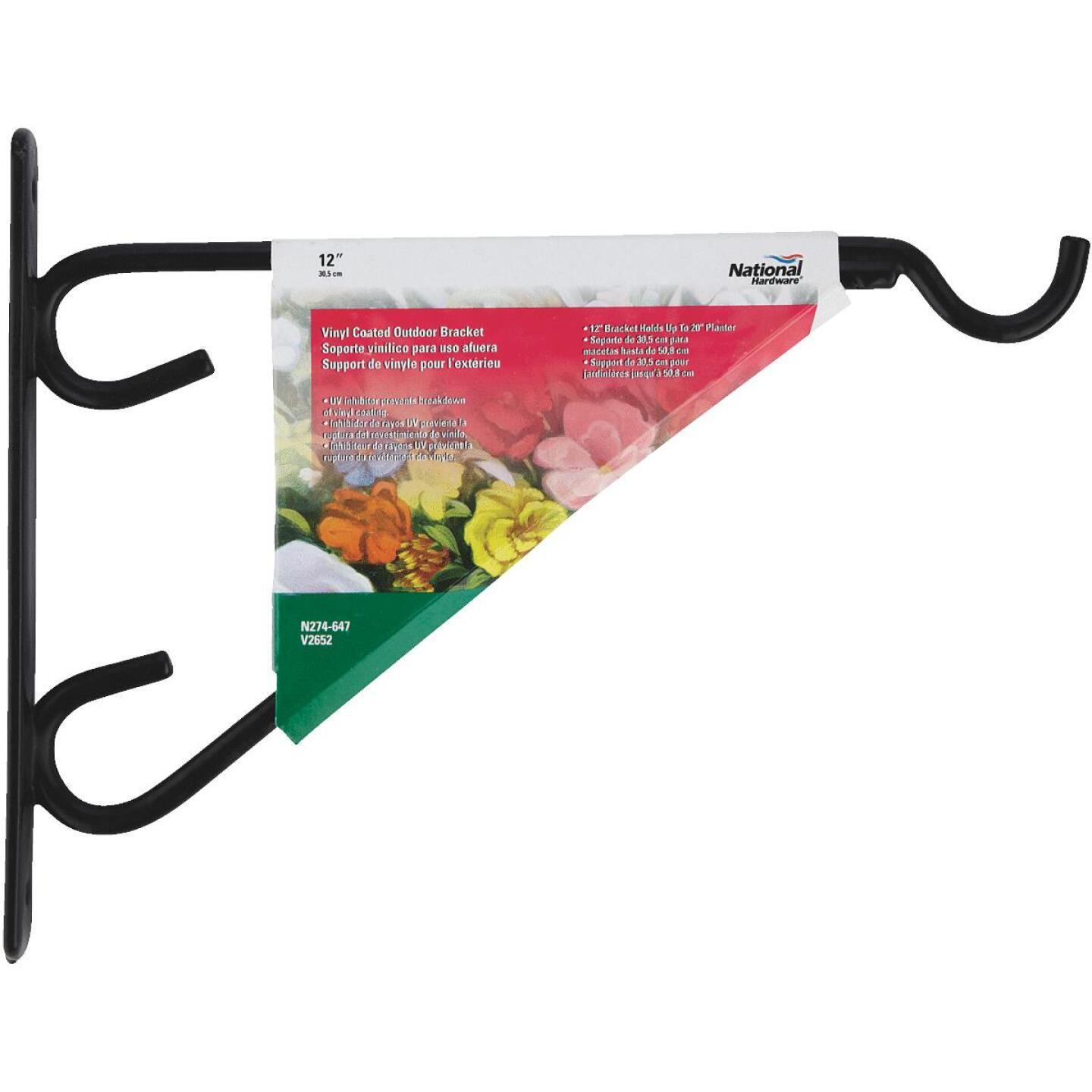 National 12 In. Black Vinyl-Coated Steel Plant Hanger Bracket Image 2