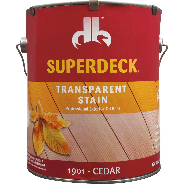 Duckback SUPERDECK VOC Transparent Exterior Stain, Cedar, 1 Gal. Image 3